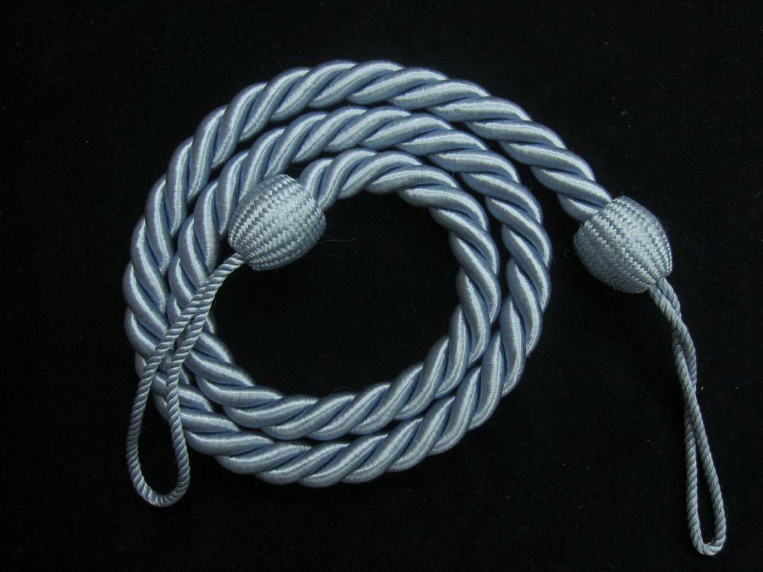 2 Rope Curtain Tiebacks Slender Slinky Rope Cord Drape Hold Backs Fabric Ties
